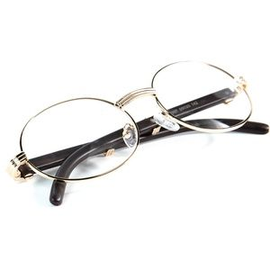 Retro Round Clear Lens Gold Round Glasses